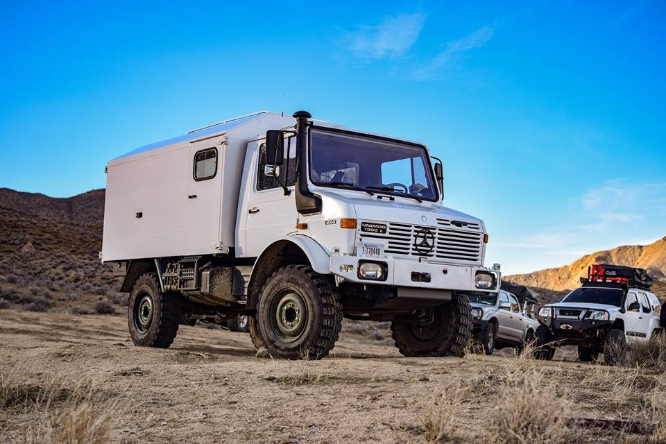 Our Unimog with Ambulance Box (Andrew's Pic)
